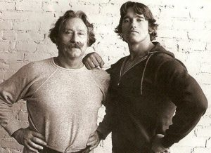 Joe Weider and Arnie 1